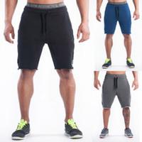 Men Casual Shorts Jogger Sweat kurze Hosen Mens beiläufige lose Knielänge Kurzschluss-Hosen