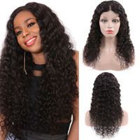 4*4 Deep Wave lace Front Wigs with Baby Hair Pre Plucked Bra...