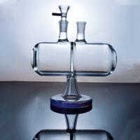 Lo nuevo Rig Bong 14mm Mujer junta de vidrio de agua Bongs invertible gravedad Infinity Cascada Pipe Dab Con Bowl XL-2061