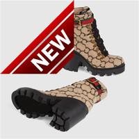 (Mit Kasten) Wolle Ankle Boot Ebony Frauen Stiefel Lug Soled Stöckelschuhe goldfarbener Oesen Marke Stiefel Winter warme Schuhe Oxfords Schuh