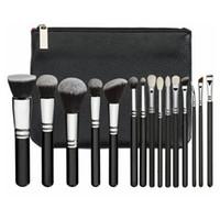 Pudra Fondöten Allık Göz Farı Kozmetik Fırçalar HHA-281 için PU Çanta Profesyonel Fırça Seti ile Set 15pcs / Set Makyaj Fırçası