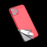 Metallic Chrome Aufkleber Zurück Vinyl Wrap Für iPhone 11 PRO MAX X X X XR 8 7 6 6S plus Haut Aufkleber Aufkleber Gold Silber Rot Blau Schwarz