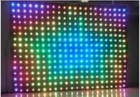 P18 4M * 5M LED Vision Rideau RGB LED Rideau Vidéo LED ignifuge pour DJ MARIAGE BACKDRAPS OFF MODE DE LA LIGNE Video Rideau DMX Controller LLFA