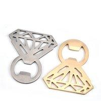 La forma de la botella anillo de diamantes de apertura de diamante de acero inoxidable de la botella de cerveza abridor de hueco fuera el anillo de apertura de los utensilios de cocina creativa libre del epacket