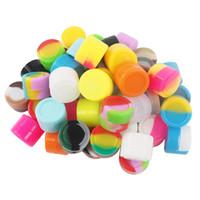 Stock in USA! 2ml Jar Commercio all'ingrosso 1000 pz / lotto Contenitori di cera antiaderente contenitori in silicone contenitore del silicio contenitore del silicone vaso di stoccaggio del dab