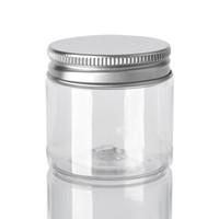 플라스틱 / 알루미늄 뚜껑 30 40 50 60 80 ㎖ 플라스틱 항아리 투명 PET 플라스틱 보존 캔 박스 둥근 병
