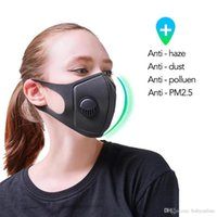 Unisex Sponge Face Mask with Valve 3 layers Breath Wide Stra...