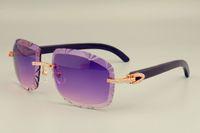 2019 ventas directas envío gratis DHL gafas de sol de lentes de venta caliente 8300075-2 cuernos negros naturales también gafas, diamantes de lujo sombrilla unisex