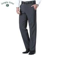 Calças de verão dos homens de negócios formal terno calças de casamento noivo calças menclothing terno calças cor pura