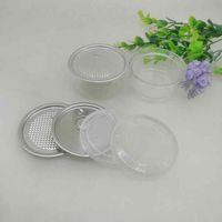 100 ml 67 * 30mm Haustier Plastikglas mit Metalldeckel Container Lebensmittel Kräuter Aufbewahrungsbox Lebensmittel Gläser Transparente Lebensmittelversiegelte Flaschenkanister ZZA2284