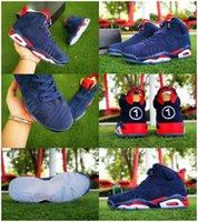 최고 품질 블루 레드 ICE의 기가 디자이너 스니커즈 남성 신발에 대한 2019 핫 판매 Jumpman VI (6) Doernbecher DB 스포츠 농구 신발