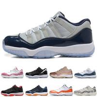 جورجتاون منخفضة 11s الرجال أحذية كرة السلة الكون Snakeskin الخفيفة العظم البحرية العلكة الزرقاء وردة الذهب الرجال النساء الأحذية الرياضية لنا 5.5-13