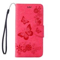 Mariposa de lujo de impresión de la flor de cuero de la cubierta del tirón de la cartera para el iphone 7 6 6 s más 5 5s funda de tapa del tirón para iphone7 7 plus funda