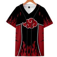 3D Anime Naruto Beyzbol Tişörtlü Unisex Hip Hop Kısa Kollu Beyzbol Jersey Uchiha Itachi Uzumaki Komik Tişört Cosplay Kostüm