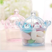 Doğum Düğün Dekorasyon zanaat DIY iyilik bebek duş taç net için şeker kutusu torba çikolata hediye plastik