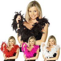 White Feather Boas 180cmnew Glam Flapper Dance Fancy Dress C...