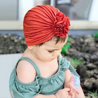 تصميم جديد لطيف نمط أغطية للرأس الطفل القطن لينة العمامة فتاة الصيف القبعة الهند الاطفال حديثي الولادة كاب للفتيات طفل
