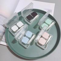 상자 젖어 휴대용 콘택트 렌즈 상자 키트 캔디 컬러 미니 콘택트 렌즈 홀더 스토리지는 하드 소프트 렌즈 F3549 케이스를 설정