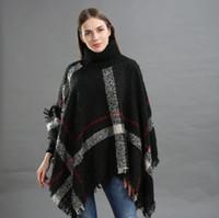 الدافئة عارضة منقوشة المدورة المرأة المعطف والأوشحة والأغطية ربيع جديد القطن فضفاض وشاح casaco feminino cachecol