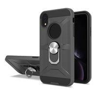 Per il caso di ZTE Z831 Z981 Z982 Z970 N9519 A530 Z812 Z958 rotazione dell'anello del metallo antiurto protezione magnetica del PC TPU Armatura Phone