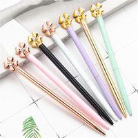 NEW 럭키 클로버 볼펜 창조적 인 금속 펜 학생 웨딩 사무실 학교 쓰기 펜 선물 용품