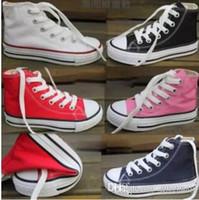 2019 Nouvelle marque de chaussures de toile enfants mode haut - bas chaussures garçons et filles enfants de toile de sport chaussures design classique