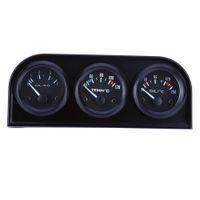 B735 52 MM 3 em 1 Medidor de Auto Medidor de Pressão de Óleo do Sensor de Pressão de Água da Temperatura Do Carro Kit Triplo