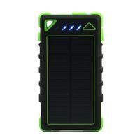 Solar Power Bank 8000mAh Tragbare Wasserdichte Ladegerät PowerBank 8000 MAH Dual USB Externe Batterieladegeräte