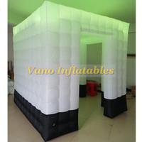 Inflável Photo Booth Venda portátil luzes LED Photo Booth com ventilador para festas do aniversário de casamentos Aniversários Festas de Empresa Especial