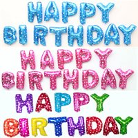 16 Inch Happy Birthday Letter Foil Balloons Set Children Par...