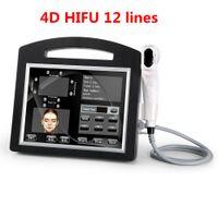 Profesyonel 3D 4D HIFU 12 satır Yüksek Yoğunluk Yüz Ve Vücut vücut inceltme için Ultrason HIFU Yüz Germe Makinası Kırışıklık Kaldırma Odaklı
