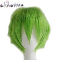 Capelli corti S-noilite sintetica Donne Uomini Parrucca vestito operato da Cosplay testa parrucche Nero Blu Viola Verde Giallo
