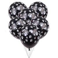Köpekler Pençe Baskı Balon 12 Inç Çocuk Doğum Günü Süslemeleri Airballoon Lateks Balonlar Siyah Beyaz Yeni Varış 14 5xt C1