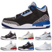 New Jumpman 3 III Black White Fashion Mens Basketball Shoes ...