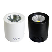 Fanlive 6pcs / lot Runde Cob Einbau Spot LED Deckenstrahler 220v 10w 15w 20w 30w 50w Surface Mounted Ac 85v-265v