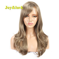 Joy&luck Long Blond Synthetic Wig Blonde Mix Brown Color Nat...