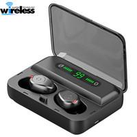 F9 5 TWS inalámbrica Bluetooth 5.0 auriculares auriculares estéreo invisibles reloj LED de cancelación de ruido auriculares para juegos