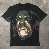 Yeni Yaz Erkek 3D klasik Rottweiler hayvan baskı Tişörtlü En Erkekler yaz Tee Casual Camisa Masculina Tshirt moda T shirt