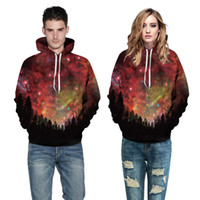 3D Forest Lover Couple Serials digital printing hooded sweat...