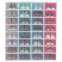 새로운 투명 플라스틱 신발 저장 상자 일본어 신발 상자 두껍게 플립 서랍 상자 신발 저장 주최자 JXW261