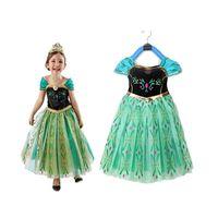 Green Dress Elegante bella principessa di Natale Abiti Hallowmas vestiti da partito Cosplay della principessa fiore di stampa abiti M201