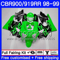 Bodys per HONDA CBR 919RR CBR 900RR CBR919RR verde chiaro nero 1998 1999 278HM.38 CBR900RR CBR 919 RR CBR900 RR CBR919 RR 98 99 Kit carena