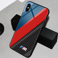 BMW M power Audi RS Car logo phone Case TPU Glass Mustang AMG for Huawei P30 P20 pro Mate20 pro Mate10 Samsung iphone