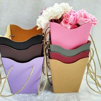 Foldable Flower Box Packaging Flower Basket Gifts Folding Pa...