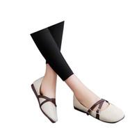 뜨거운 판매 -HEE 그랜드 2018 가을 버클 플 라크 여성 소프트 유일한 신발 PU 가죽 숙 녀 캐주얼 매일 여성 플랫 XWD5902
