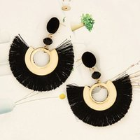 2019 Hot Sale Exaggerated Tassel Earrings Creative Personali...