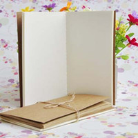 Blank Inside Page Notepads Kraft Notebook Solid Color for Students School Children Writing Books 8.8 * 15.5 cm