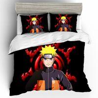 Textiles para el hogar Ropa de cama Ropa de cama de Naruto Conjuntos funda nórdica King Size Juego de cama Ropa de cama Hojas De Cama regalo sabanas de lino