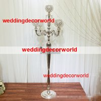 new tall candle holder crystal candelabra glass candle holder party decoration wedding centerpieces glass candle holders for walkway pillar