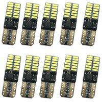 2021 12 فولت 24 فولت لا بولاريتي canbus t10 المصابيح LED مع 4014SMD 24 LEDs الداخلية ضوء W5W LED مصباح أبيض أزرق لا خطأ OBC